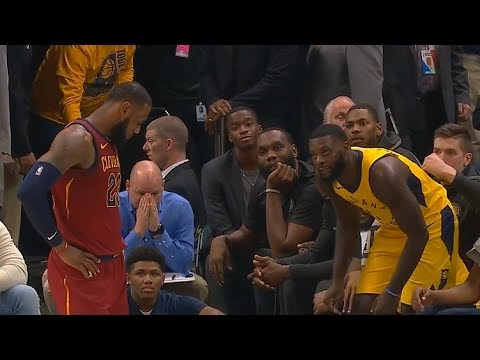 LeBron James Follows Lance Stephenson To The Bench To Hear His Trash Talk!