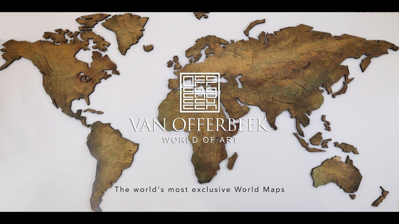 Verwonderlijk Tip) Exclusieve WERELDKAARTEN | Houten Wereldkaart Wanddecoratie QC-75