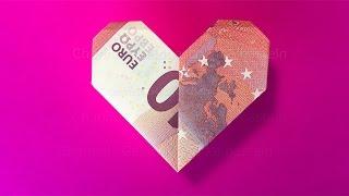 Geld Herz Falten Anleitung Um Einfach Ein Herz Aus Geld Zu
