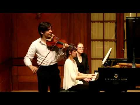 Andrea Obiso & Chelsea Wang | O. Respighi | Violin Sonata in B minor - 2nd Movement