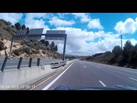 SJ4000 Cam on Porsche Cayenne in Cascais highway A5 to Lisbon