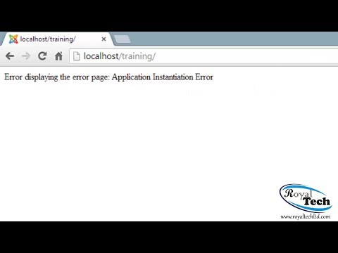 How To Fix Error Displaying The Error Page: Application Instantiation Error On Joomla 2.5 & 3.0
