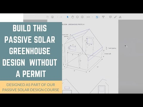 This Passive Solar Greenhouse Design Can Be Built Without A Permit For Your Sustainable Food Supply!