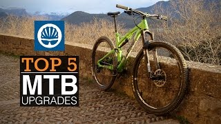 Top 5 - Best MTB Upgrades(If you're looking for a pre-summer upgrade to your mountain bike then we've got five suggestions for the best places to splash the cash., 2015-05-29T13:24:08.000Z)