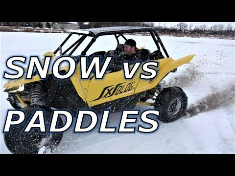 Yamaha YXZ with paddles on snow. Does it work?