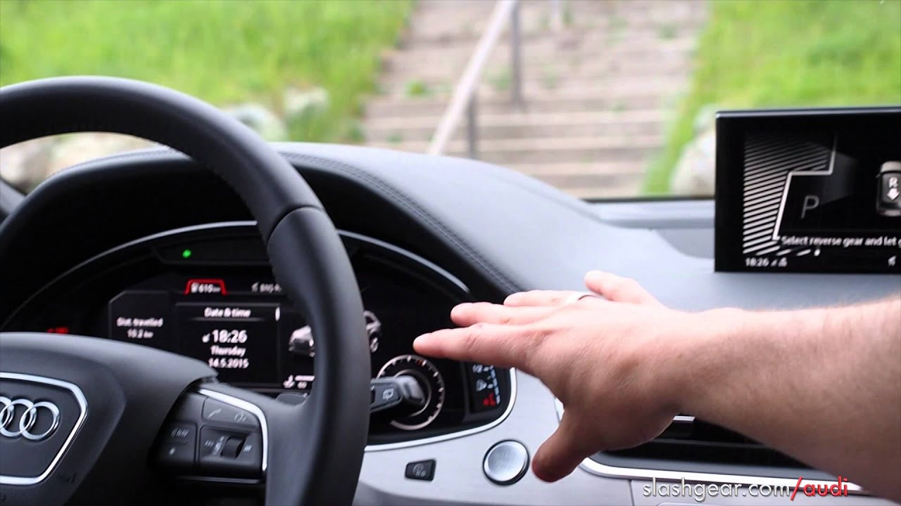 2017 audi q7 park assist explanation and demo - youtube