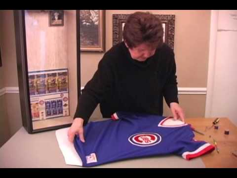 How To Frame A Sports Jersey Youtube