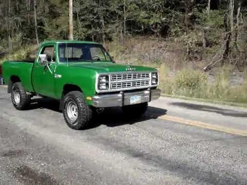 79 Dodge Power Wagon Burnout - YouTube