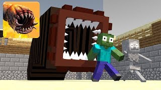 Monster School : Death Worm - Brave - Granny Horror Challenge in Minecraft Animation