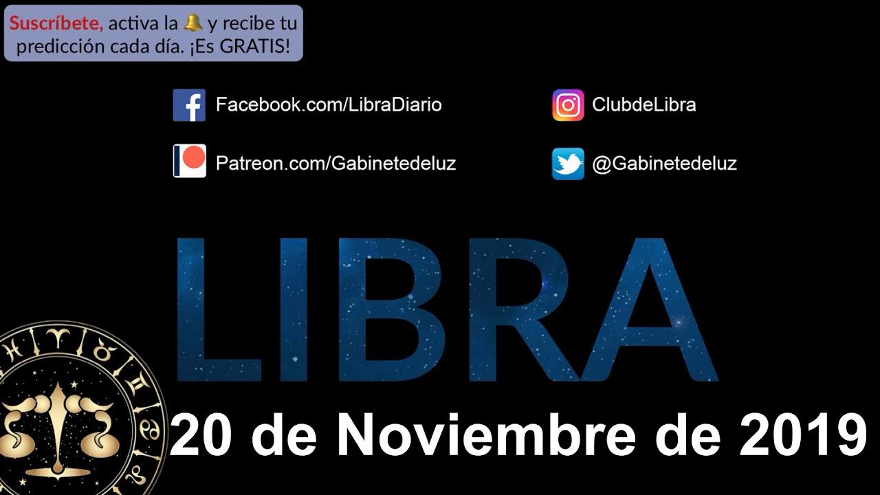 Horóscopo Diario - Libra - 20 de Noviembre de 2019 - YouTube