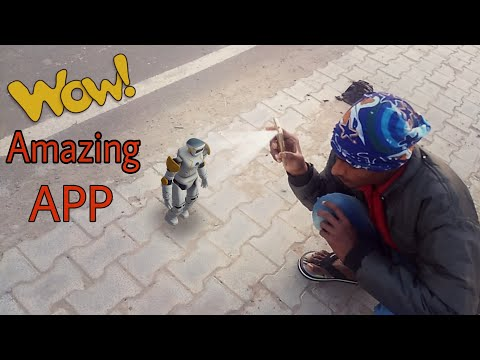 Android Best Camera Fun App Ever | amazing 3d robot in reality | Holographic Effect