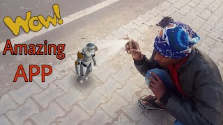 Android Best Camera Fun App Ever   amazing 3d robot in reality   Holographic Effect