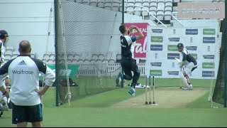James Anderson and Chris Woakes bowl serious pace in the nets