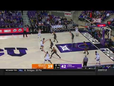 Oklahoma State vs TCU Men's Basketball Highlights