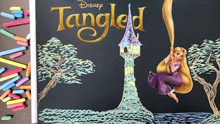 Let's Draw Disney's Tangled--In Chalk! ♫ 8 HOURS of Art + Lullabies