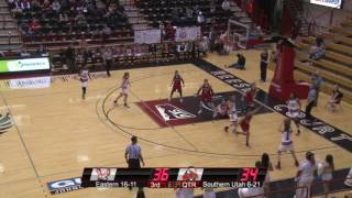 Highlights of Eastern Women's Basketball against Southern Utah (Mar. 1).
