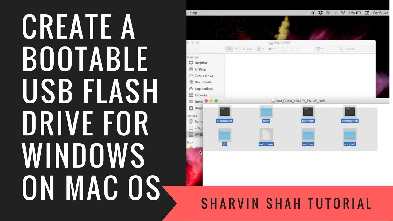 how to make a bootable usb stick mac os x on windows