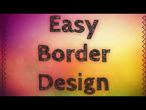 Very easy border design for school projects   Very simple border design   Coverpage design