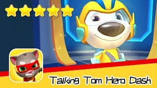 Talking Tom Hero Dash Run Game Day86 Walkthrough Hank's new armor Recommend index five stars