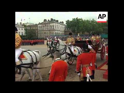 UK: PRESIDENT MANDELA'S ROYAL WELCOME TO BRITAIN