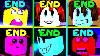 Roblox - All 6 Endings - Piggy Game Guesty!