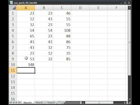excel how to create quick fill