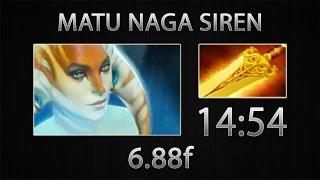 Dota 2 Naga Siren Fast Farm - MATUMBAMAN - Radiance - 14:54 [6.88f]