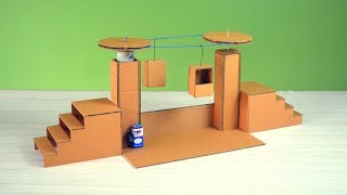 Best science project for students | making a cardboard ropeway model