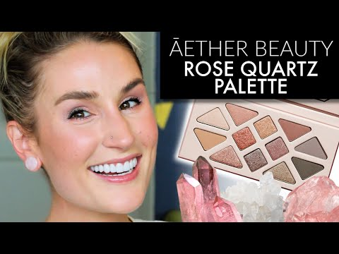 ĀETHER BEAUTY ROSE QUARTZ CRYSTAL GEMSTONE PALETTE | Wearable Look + Review | CLEAN AT SEPHORA