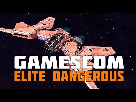 Elite Dangerous - Hiring Crew, Python Killing Fighters & An Alien Leak - Gamescom 2016