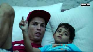 Cristiano Ronaldo with his son in life