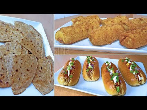 Mince Snack Recipes | Quick and Easy Mince Snacks | Pan Rolls | Keema Parathas | Bread Rolls