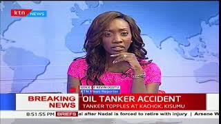Seven feared dead in oil tanker accident at Kachok area, Kisumu County