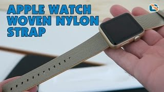 Apple Watch Woven Nylon Strap Review Gold & Royal Blue #AppleWatch