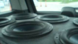 Six Merlon subs & Six Boss amps 2012