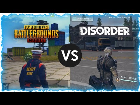 PUBG MOBILE Vs DISORDER COMPARISON   WHICH One Is BETTER? - BlueFox