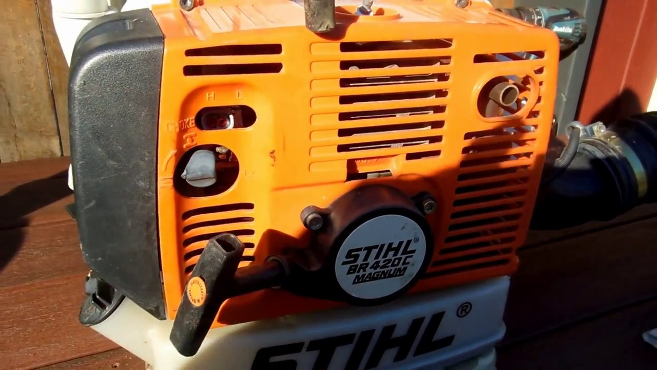 small resolution of stihl br420c leaf blower kill switch repair