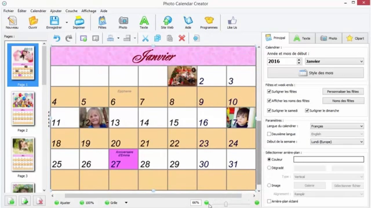 Photo Calendar Creator Plus Free Download