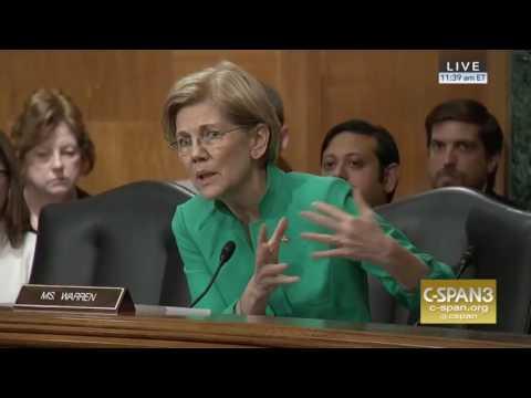 Elizabeth Warren Grills Steve Mnuchin On Glass Steagall Reversal