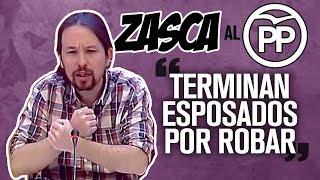 Pablo Iglesias desmonta al PP en su comisión fake
