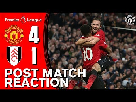 Post Match Reaction | Manchester United 4-1 Fulham | Scorers Mata & Young  look back on big win