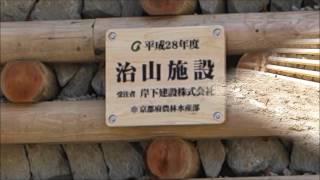 木製治山ダム平成28年度完成