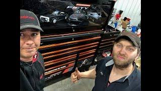 "Snap on ""Fifty"" anniversary Camaro toolbox set up"