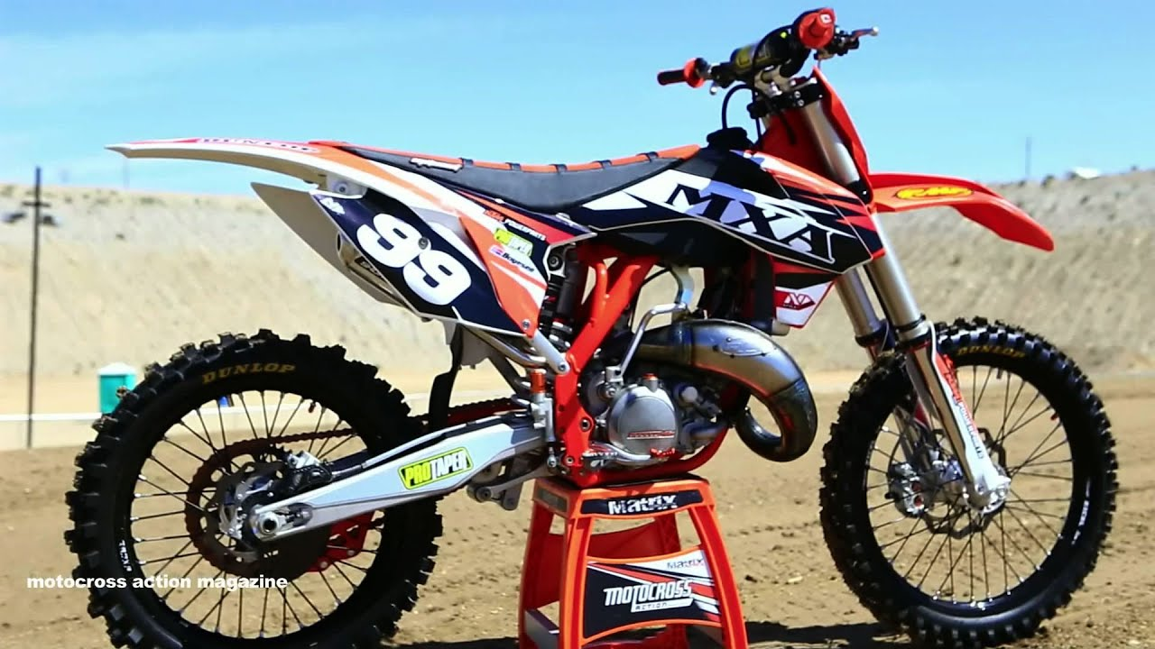 project 2015 ktm 150 sx 2 stroke motocross action magazine youtube