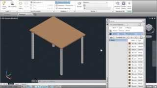 AutoCAD 3D Tutorial - Draw a Table