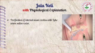 Jala Neti With Physiological Explanation