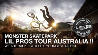 MONSTER SKATEPARK !! BMX Riding - LIL PROS KIDS TOUR Sydney Olympic Park, New South Wales, Australia