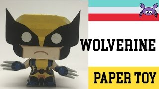 How to Make a Wolverine Paper Toy ( Papercraft ) (free template) by Gus Santome