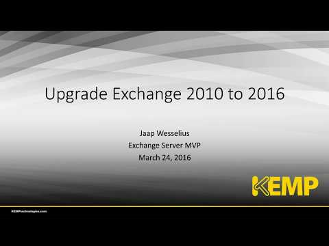 Migrating Microsoft Exchange 2010 to 2016 with MVP Jaap