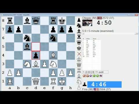Blitz Chess #108: IM Bartholomew vs. IM Krivonosov (Queen's Gambit Declined)